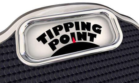 Tipping Point Scale Final Trigger Point Level Amount Words 3d Illustration Reklamní fotografie
