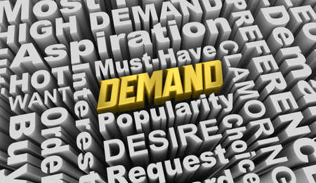 Demand Hot Popular Must Have Product Choice Words 3d Illustration