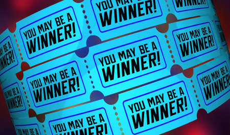 You May Be A Winner Tickets Lottery Raffle Drawing Already Won 3d Illustration Banque d'images