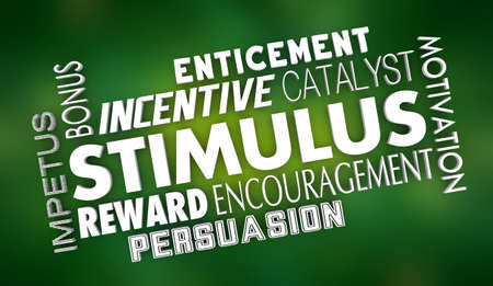 Stimulus Incentive Encouragement Motivation Financial Reward Words 3d Illustration