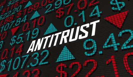 Antitrust Stock Market Financial Company Rule Law Regulation 3d Illustration Banque d'images