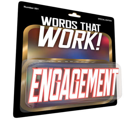 Engagement Words that Work Package Get Involved Participate Inclusion 3d Illustration