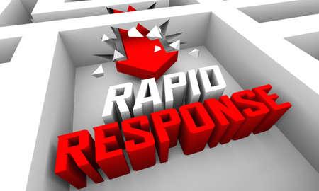 Rapid Response Emergency Responsive Service Urgent Critical Need 3d Illustration