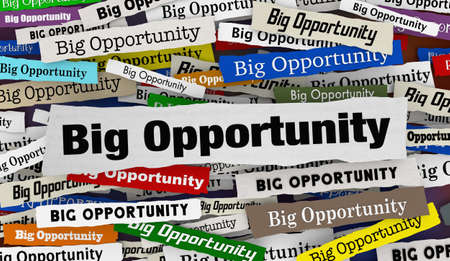 Big Opportunity News Headlines Lucky Chance Offer Proposal 3d Illustration