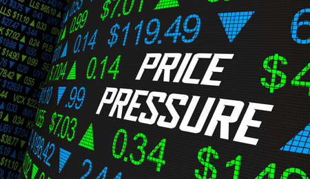 Price Pressure Stock Market Shares Increase Decrease Investment 3d Illustration Banque d'images