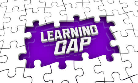Learning Gap Puzzle Education Disparity Inequality 3d Illustration Banque d'images