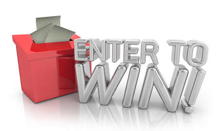 Enter to Win Contest Drawing Raffle Entry Lottery Words 3d Illustration