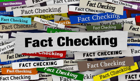 Fact Checking Newspaper Headlines Accuracy Correct Truth 3d Illustration