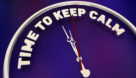 Time to Keep Calm Relax Remain Calm Steady Clock 3d Animation