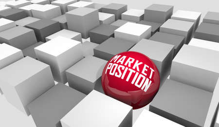 Market Position Your Business Stand Out Among Competition 3d Illustration Stockfoto