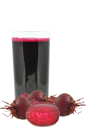 beetroot juice on a white background photo
