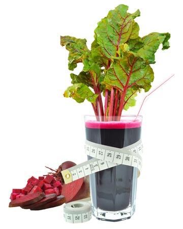 Beetroot juice and meter