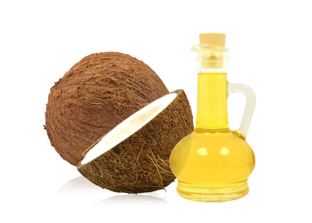 coconut oil on a white background photo