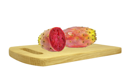 prickly pear on a wooden board photo