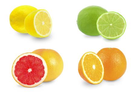 citrus fruits on white background Stock fotó - 27483976