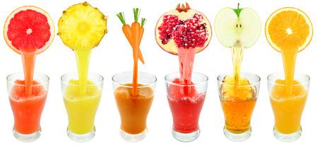 fruit juice: succhi di frutta Archivio Fotografico