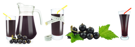 blackcurrant: blackcurrant juice and meter  Stock Photo