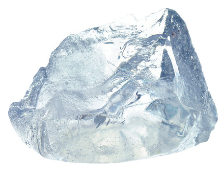 ice cube isolated on white 写真素材