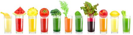 야채와 과일 주스 스톡 콘텐츠