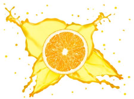 orange splash: orange splash Stock Photo