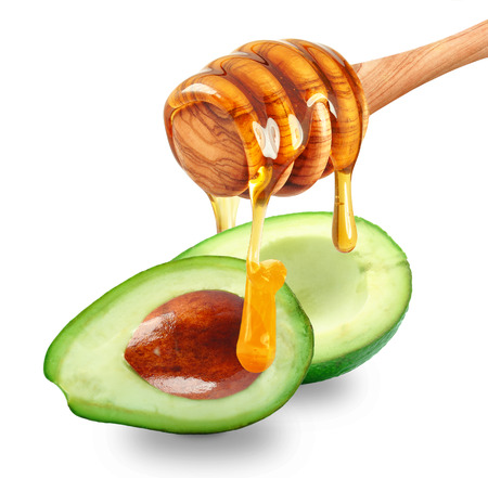 It avocado honey dripping isolated on white background Stock fotó - 40266334