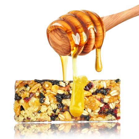 barra de cereal: barra de cereales y miel