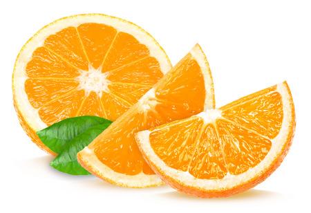 오렌지 조각 스톡 콘텐츠