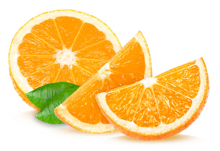 orange color: orange slices Stock Photo