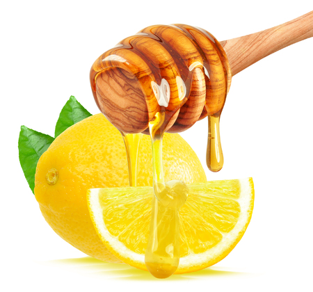 Lemon and honey isolated