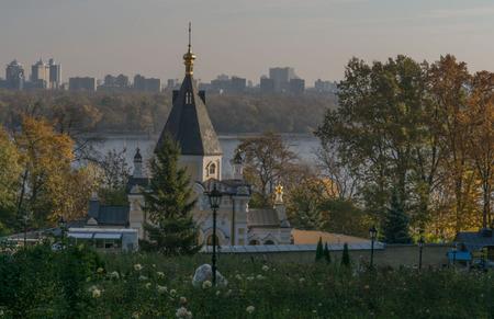 kiev: Kiev Lavra. fall. morning Stock Photo