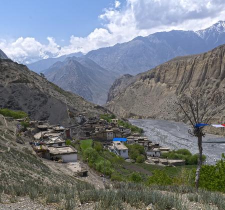 Nepal, Himalayas, Mustang, Lupra Stock Photo