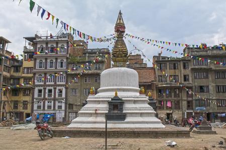 monument valley view: Nepal, Kathmandu Stock Photo