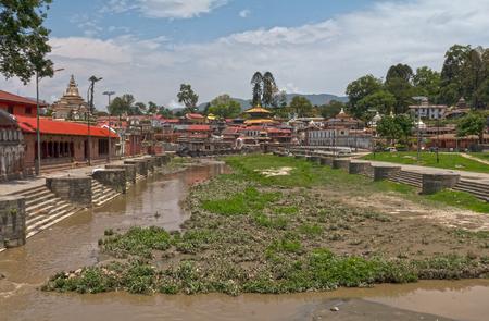 Kathmandu Nepal Temple Pashupatinath Stock Photo