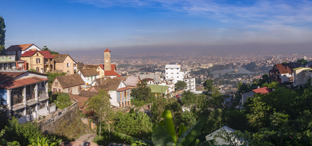 antananarivo, city, madagascar, sky, urban, africa, building,