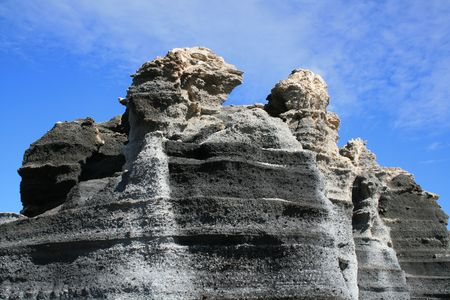 strata: Badlands Ferrain Horizontal Strata Eroded By Wind