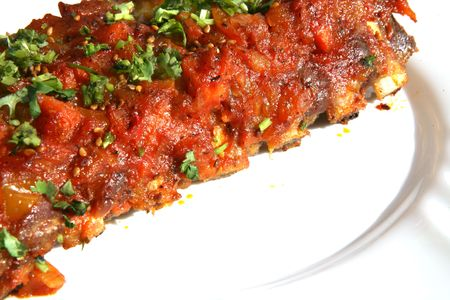Rack of ribs with BBQ sauce Stock Photo - 3230298