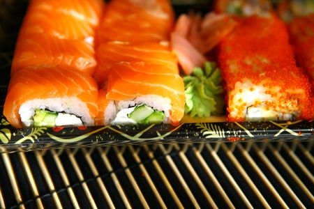 mouth watering: Sushi, traditional japanese food