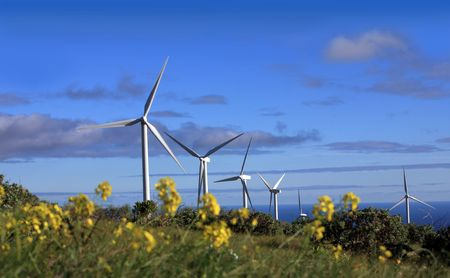 eolic: wind turbine Stock Photo