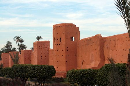 ramparts: Old city wall in Marrakech