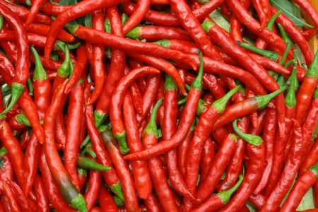 hot peppers: Red hot chili peppers