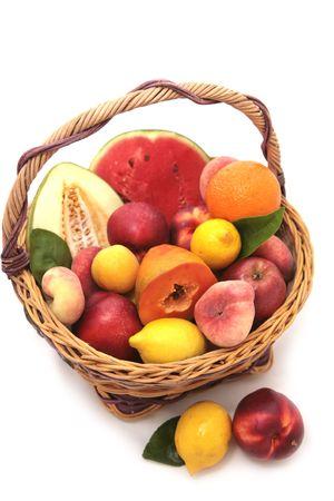 bascket of fruits photo