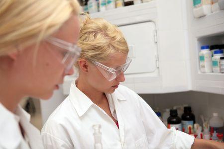 Students working chemistry laboratory Stock Photo - 5543288