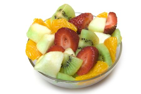 Fresh Fruit Salad in the bowl Stock Photo - 7016319