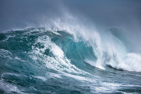 wzburzone morze: Ocean fala  Zdjęcie Seryjne