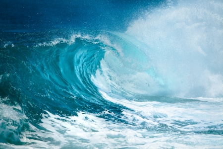 rough sea: Ocean wave