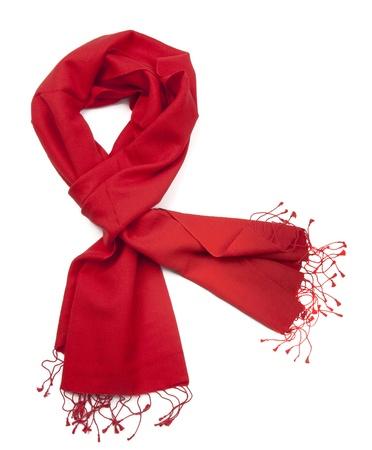 Red scarf or pashmina