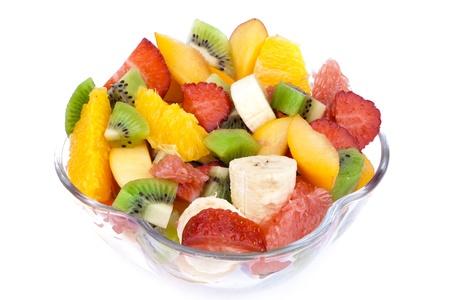 ensalada de frutas: Ensalada de fruta fresca en el taz�n