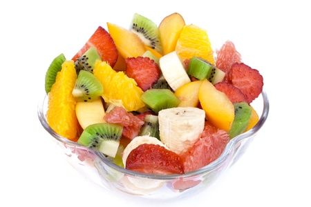 fruity salad: Fresh Fruit Salad in the bowl  Stock Photo