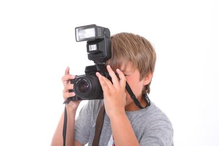 Boy with camera  photo