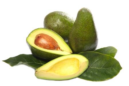 avocado fruit on a white background